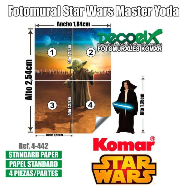 4-442 Detalles Maestro Yoda Star Wars