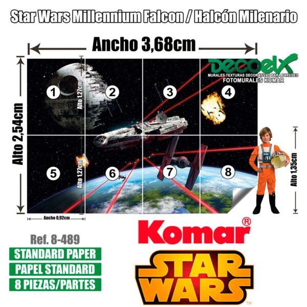 8-489 Detalles Halcón Milenario Star Wars