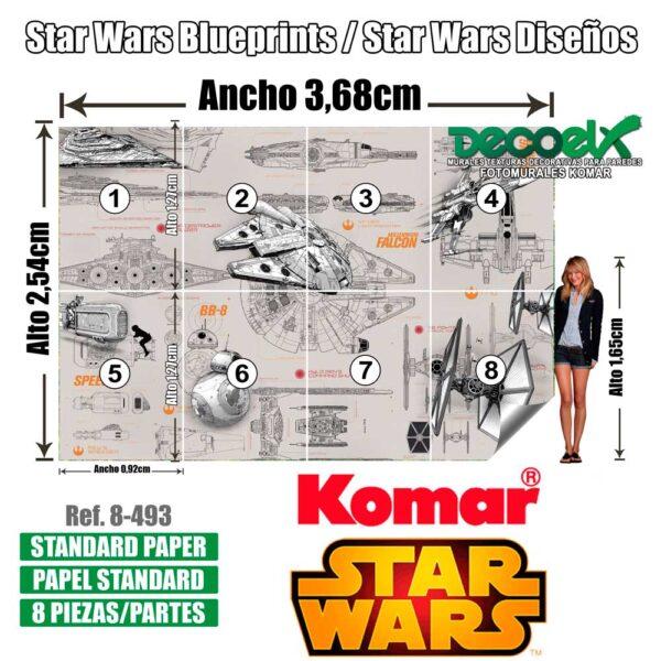 8-493 Diseños Star Wars Detalles