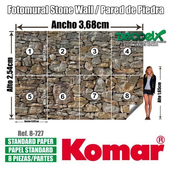8-727 Stone Wall Detalles