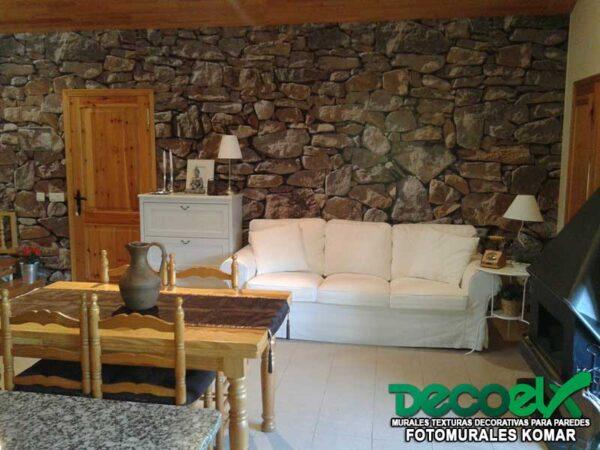 8-727 Interior Pared de Piedra