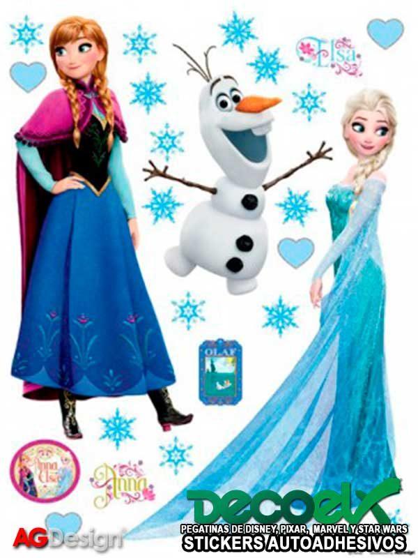 Pegatina Disney Frozen Elsa Anna y Olaf DK-1797