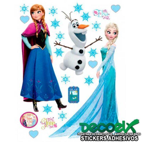 Sticker Disney Frozen Elsa Anna y Olaf DK-1797