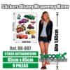 Stickers Infantiles Disney McQueen y Mater DK-887 Detalles