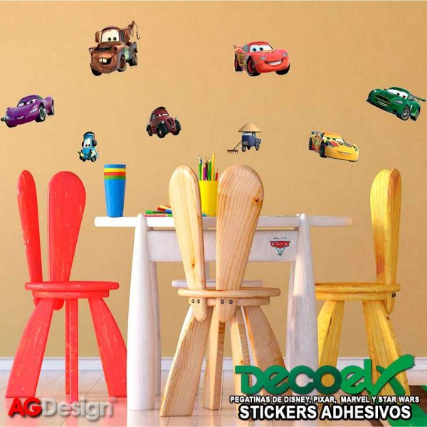 Stickers Infantiles Disney McQueen y Mater Interior DK-887
