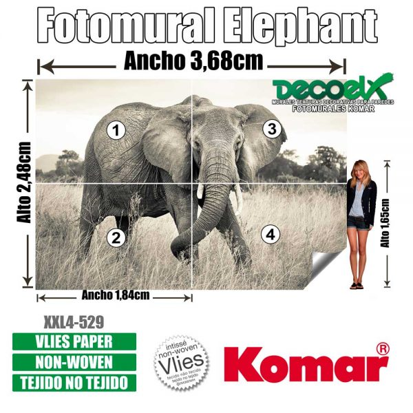 xxl4-529 Detalles Elefante