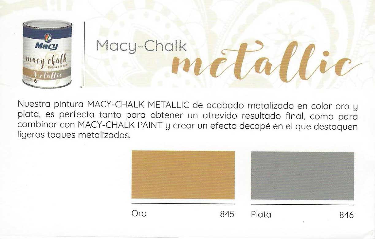 Pintura Tiza Colores Metalizados Oro y Plata.