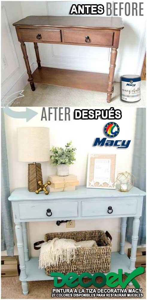 Muebles Pintados a la Tiza Antes y Después Macy Chalk 11