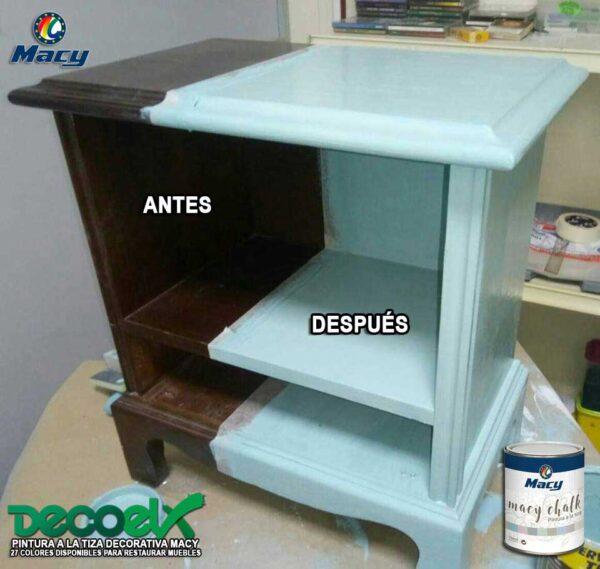Muebles Pintados a la Tiza Antes y Después Macy Chalk 16