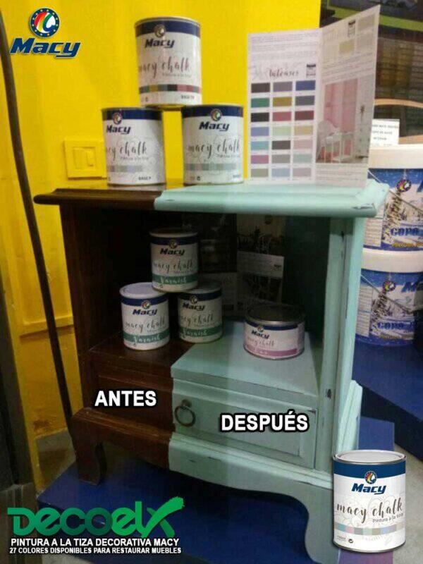 Muebles Pintados a la Tiza Antes y Después Macy Chalk Paint 17