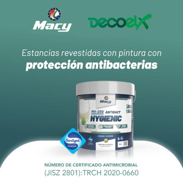 Adhesivo Acreditativo Pintura Plástica Mate MV-200 Hygienic