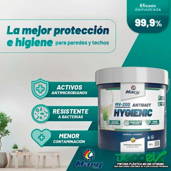 Pintura Plástica Mate MV-200 Hygienic