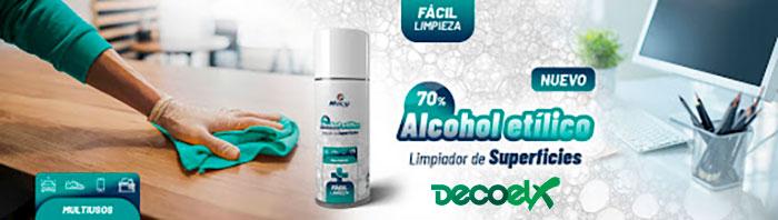 Banner Spray Limpieza Superficies Alcohol 400ml