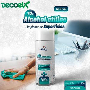 Spray Limpieza Superficies Alcohol 400ml
