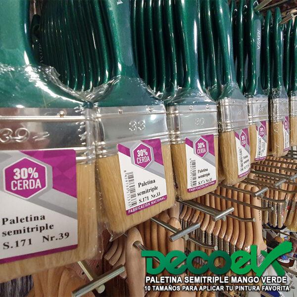 Paletina semitriple verde 10 tamaños JEIVSA