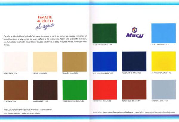 Carta Colores Esmalte Acrilico Multiadherente MACY
