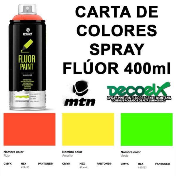 Carta de Colores Spray Fluorescente MTN 400ml
