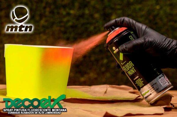 Spray mtn pro pintura fluor 400ml Aplicacion