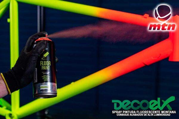 Spray mtn pro pintura fluor 400ml Aplicacion en cuadro bicicleta
