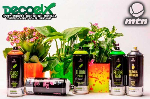 Spray mtn pro pintura fluor fondo blanco y barniz acrilico 80431918 400ml 2