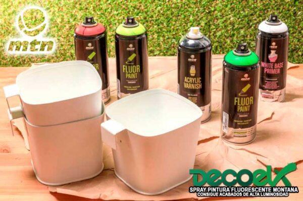 Spray mtn pro pintura fluor fondo blanco y barniz acrilico 80431918 400ml 3