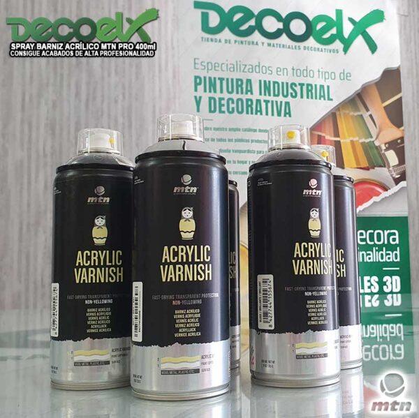 Barnices Acrílicos Sprays para proteger madera
