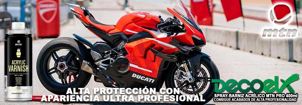 Barniz Acrílico Spray MTN PRO pintura para motos