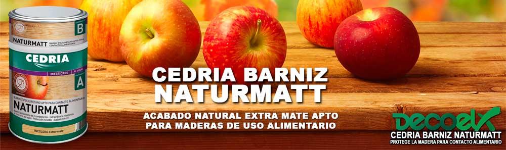 Barniz para madera interior Cedria Naturmatt.