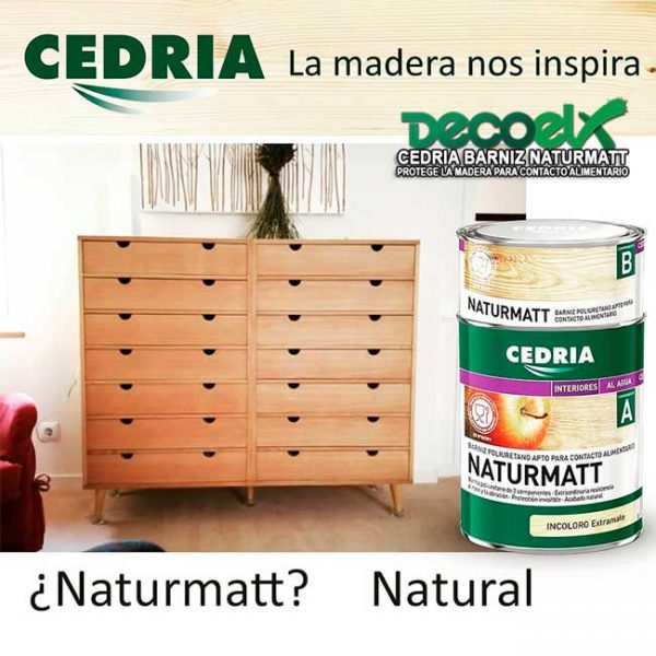 Cedria barniz para madera Naturmatt acabado natural extramate