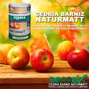 Cedria Naturmatt barniz para madera transparente.
