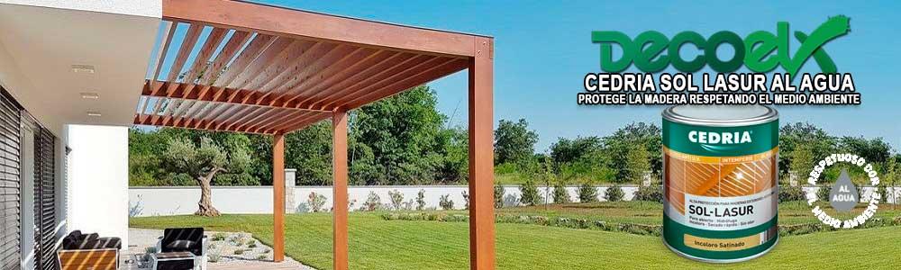 Cedria Sol Lasur protege al máximo la madera a poro abierto