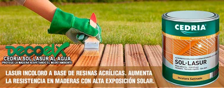Sol Lasur Cedria aumenta la resistencia al sol.