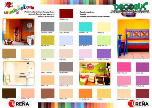 Carta Colores Pintura Plástica Mate Monocapa UREÑACOLOR