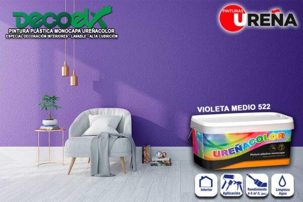 Colores Monocapa Pintura Violeta Medio 522
