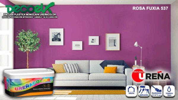 Colores Pintura Pared Rosa Fuxia 537 UREÑACOLOR