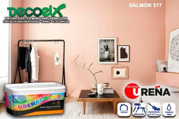 Colores Pintura Pared Salmon 517 UREÑACOLOR
