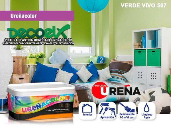 Colores Pintura Paredes Verde Vivo 507 UREÑACOLOR