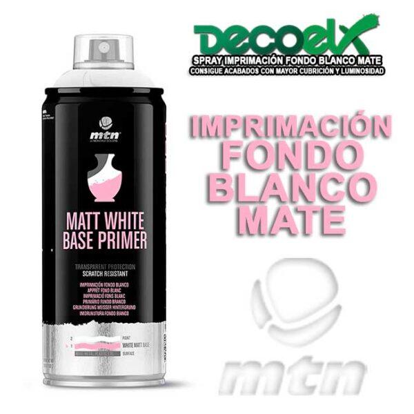 Imprimación en Spray Fondo Blanco Mate