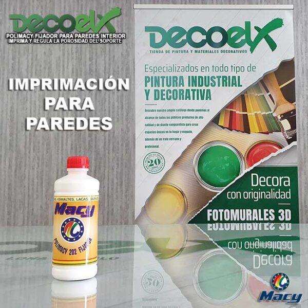 Imprimación para pared fijador de pintura Polimacy 1L.