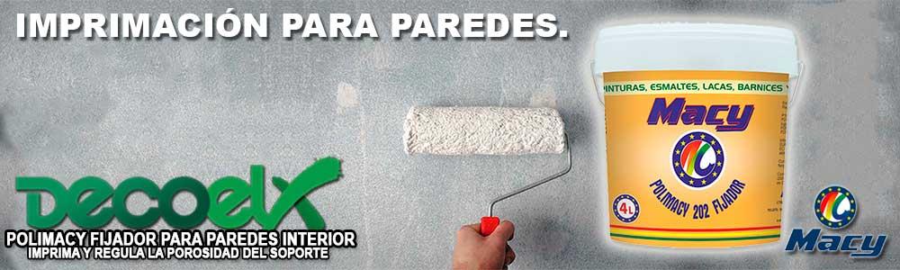 Imprimación para pared fijador de pintura polimacy