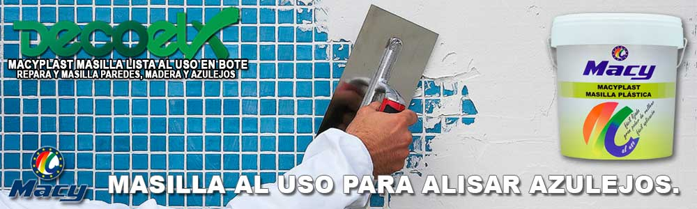 Masilla para azulejos lista al uso Macyplast.