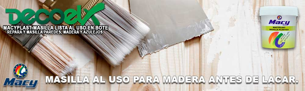 Masilla para madera lista al uso Macyplast,