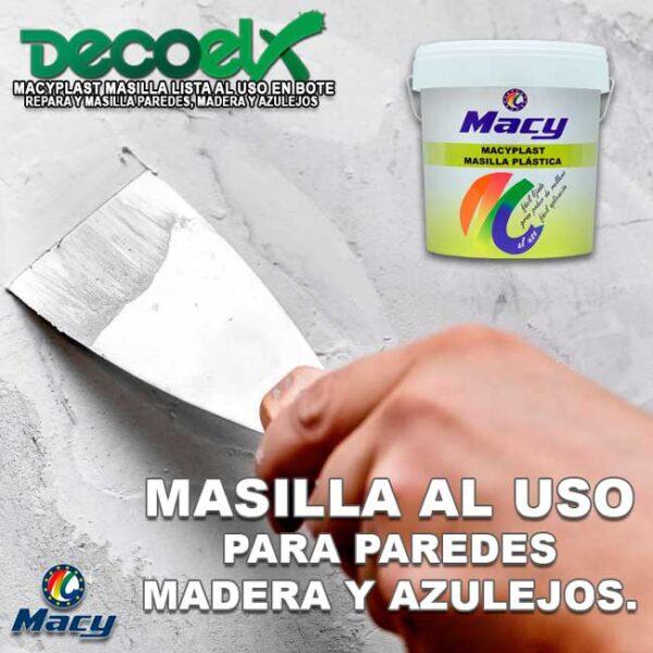 Masilla para Madera, Paredes y Azulejos lista al uso Macyplast.