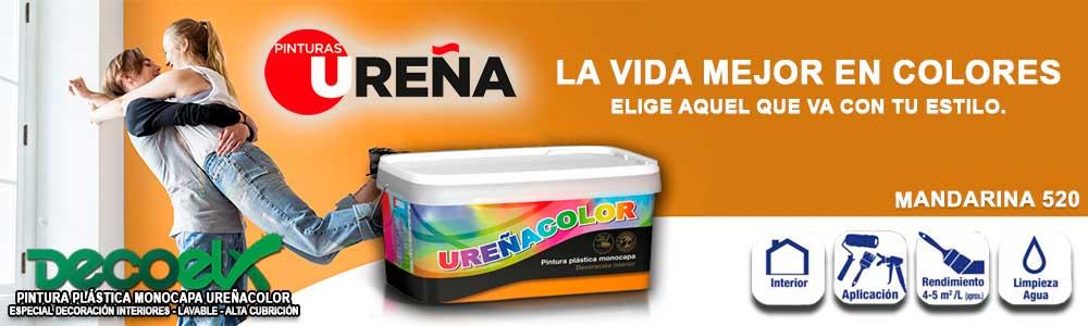 Pintar Paredes Colores Mandarina 520 Pintura Plástica Monocapa Ureñacolor