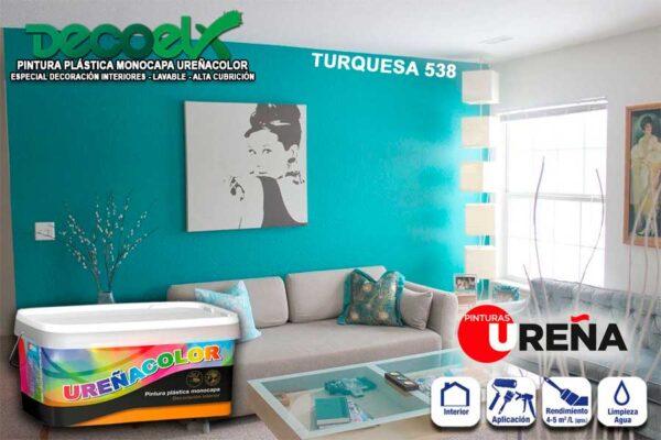 Pintura Monocapa Colores Turquesa 538 UREÑACOLOR