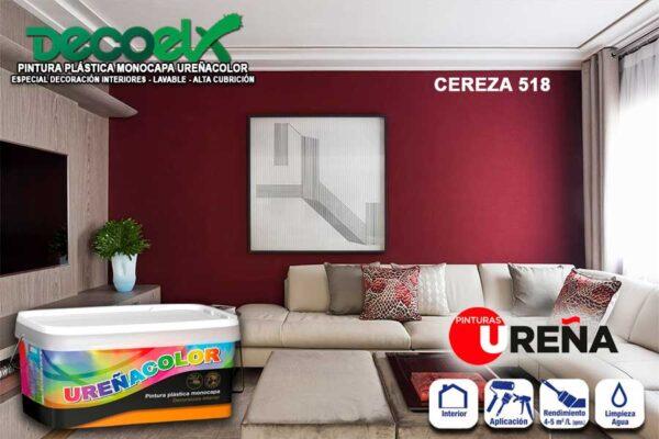 Pintura Paredes Interior Colores Cereza 518 UREÑACOLOR