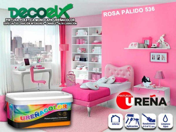 Pintura Paredes Interior Colores Rosa Pálido 536 UREÑACOLOR