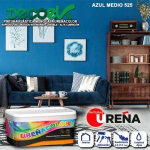 Pintura Plástica Monocapa Colores Azul Medio 525 Ureñacolor