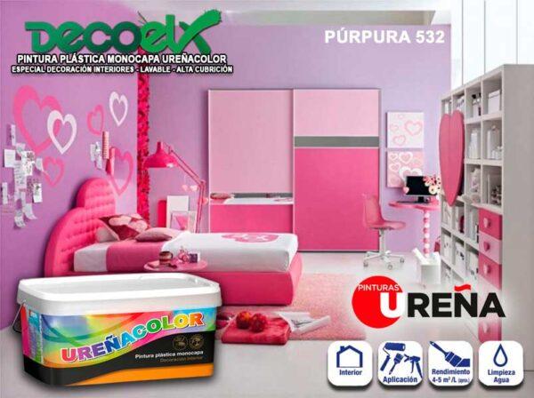 Pintura Plástica Monocapa Colores Purpura 532 UREÑACOLOR